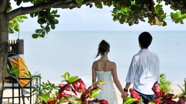 リゾート地での結婚式