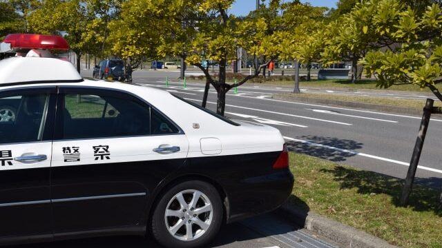 駐車中のパトカー